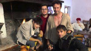 """Foto di scena """"Cecco"""" - dal blog di Ciclope film - con Francesco Di Mauro, Riccardo Festa, Federico Russo e Fausto Cabra"""