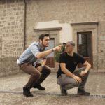 A sinistra il regista Francesco Di Mauro, a destra l'operatore di macchina Luca Gennari